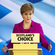 Nicola Sturgeon am Freitag in Edinburgh