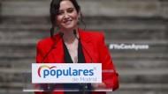 Die Madrider Regionalpräsidentin Isabel Díaz Ayuso im März in Madrid