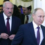 Der Präsident von Belarus, Alexandr Lukaschenka, und der russische Präsident Wladimir Putin im Dezember 2019