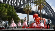 """Warnungen vor """"antichinesischer Panik"""": Aufführung in Sydney zur Feier des chinesischen Neujahrsfests am Montag."""