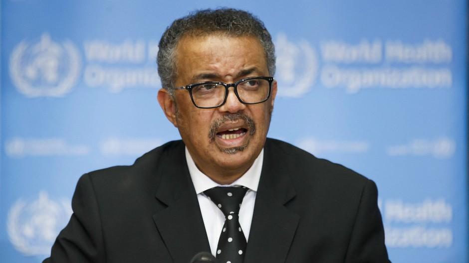 Tedros Adhanom Ghebreyesus, Generaldirektor der Weltgesundheitsorganisation (WHO), im Februar 2020