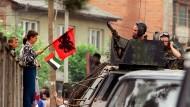 Beliebt in der albanischen Bevölkerung: Bundeswehrsoldaten in Prizren