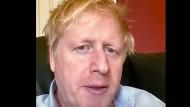 Boris Johnson in Quarantäne - vor seiner Einlieferung in ein Krankenhaus.