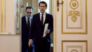 In Gefahr? Vizekanzler Strache (FPÖ) und Kanzler Kurz (ÖVP) im April.