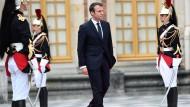 Macron kennt Versailles: Im Mai beim Empfang des russischen Präsidenten Putin.