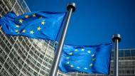Der Sitz der EU-Kommission in Brüssel, das Berlaymont Gebäude.