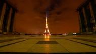 Keiner sieht es: Der Eiffelturm in Paris im Oktober 2020