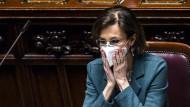 Die italienische Justizministerin Marta Cartabia im März 2021 im Parlament in Rom.