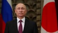 Der russische Präsident Wladimir Putin bei einem Besuch in Japan