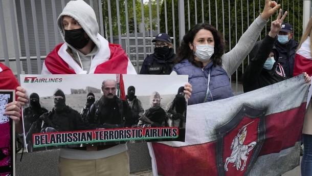 Belarus führt Protassewitschs Freundin in Video vor