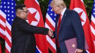 Problem nicht gelöst: Kim Jong-un und Donald Trump im Juni in Singapur.