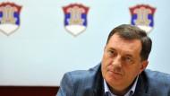 Fürchtet antiserbische Projekte: Milorad Dodik, Präsident der bosnischen Serbenrepublik