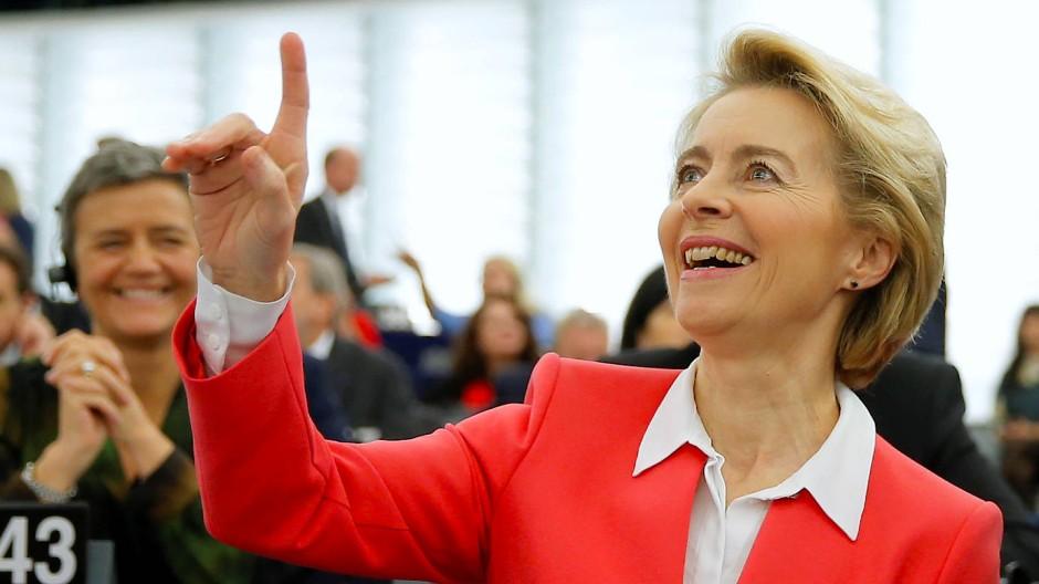 Ursula von der Leyen am Mittwoch im EU-Parlament in Straßburg