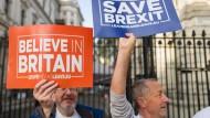 """""""Rettet den Brexit"""": EU-Gegner demonstrieren im Oktober vor dem Sitz der britischen Premierministerin"""