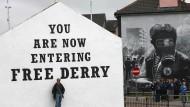 """In Derry gibt es mehrere hausgroße Wandgemälde der """"Troubles"""""""