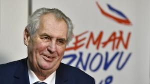 Milos Zeman gewinnt erste Runde der Präsidentenwahlen in Tschechien
