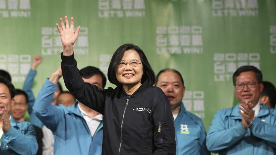 Nur wenig Gratulanten aus dem Ausland: Taiwans Präsident Tsai Ing-wen