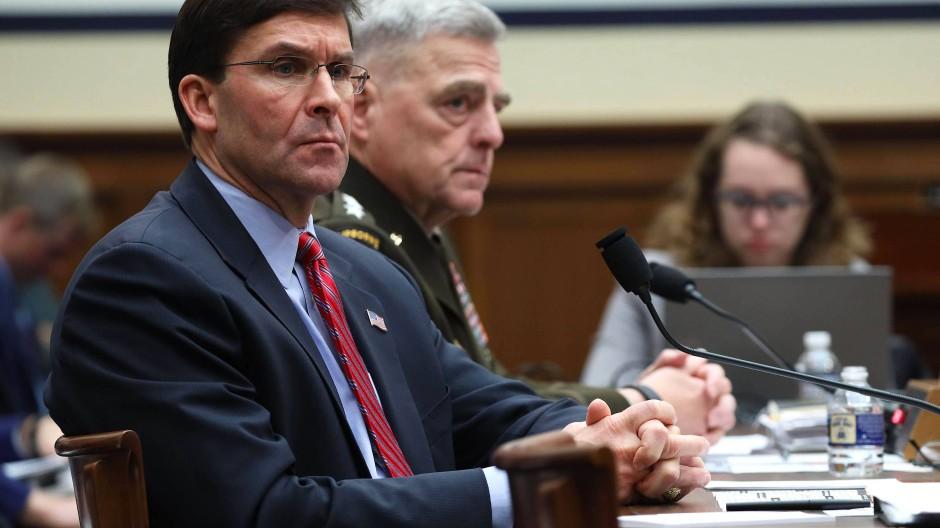 Der amerikanische Verteidigungsminister Mark Esper am Mittwoch in Washington