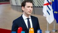 """Gab dem """"Juniorpartner"""" in der Koalition nach: Der österreichische Bundeskanzler Sebastian Kurz vor wenigen Wochen in Brüssel."""