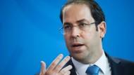 Youssef Chahed, der Ministerpräsident Tunesiens: Der 41-Jährige sieht sein Land auf einem guten Weg.