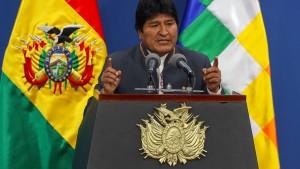 Boliviens Präsident kündigt Neuwahlen an