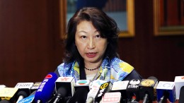 Hongkongs Justizministerin verletzt