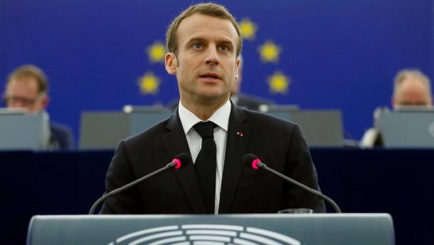 Macron will europäische Finanzhilfen für Flüchtlingsaufnahme