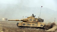 Ein türkischer Panzer bei einem Übungsmanöver an der Grenze zum Irak im September vergangenen Jahres