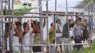 Asylbewerber in einem Lager auf der Pazifikinsel Manus. Das Oberste Gericht urteilte, es sei nicht mit der Verfassung vereinbar, Menschen dort festzuhalten.