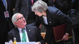 Juncker nennt May die Bedingungen der EU