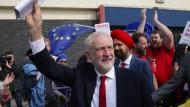 Star der jungen Schwärmer: Corbyn vor dem Labour-Parteitag am Mittwoch in Brighton.