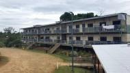Ein Flüchtlingslager auf der Insel Manus, Papua Neuguinea.