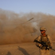 Amerikanischer Marine-Soldat am Militärstützpunkt Shorab in der Provinz Helmand, Archivaufnahme