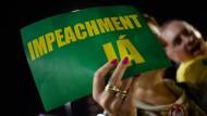 Auch am vergangenen Wochenende protestierten Aktivisten für die Amtsenthebung der brasilianischen Präsidentin.