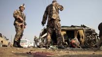 Afghanische Soldaten am Tatort in Kabul