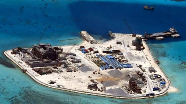 China verteidigt Besiedlung von Atollen