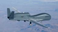"""Eine amerikanische Drohne vom Typ """"Global Hawk"""""""