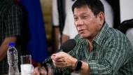 Rodrigo Duterte am Dienstag bei einer Pressekonferenz in Davao.