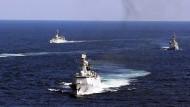 Wie schon 2012 demonstriert die chinesische Marine auch derzeit wieder Stärke im südchinesischen Meer.