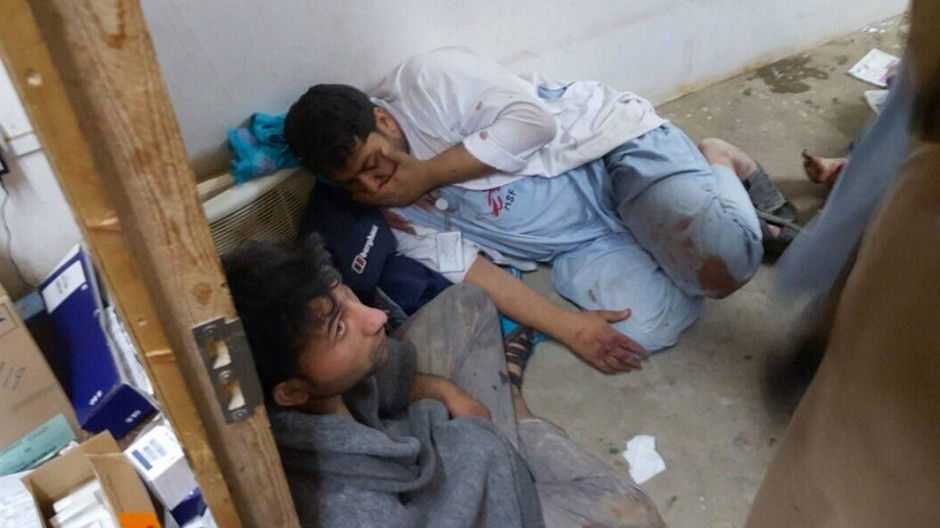 Während des Angriffs: Die Aufnahme wurde von Ärzte ohne Grenzen zur Verfügung gestellt.