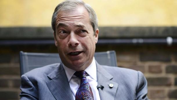 Nigel Farage will übergangsweise Ukip-Chef bleiben