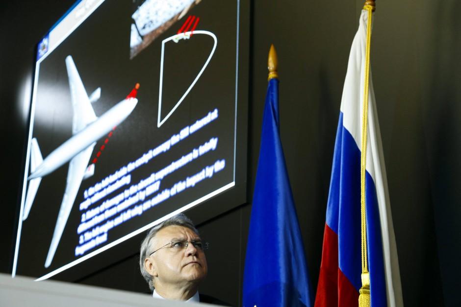 Jan Nowikow, Chef des russischen Raketenherstellers Almas-Antaj, präsentiert eine eigene Version der Ereignisse.
