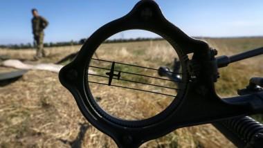 In der vergangenen Woche gab es noch Flugabwehrgeschütze der ukrainischen Armee in der Nähe von Luhansk