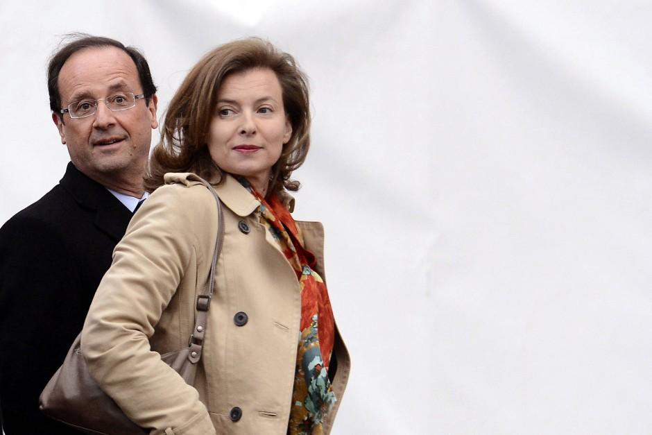 Hollande mit seiner damaligen Frau Valerie Trierweiler im Mai 2012