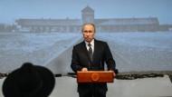 Wladimir Putin während seiner Rede zum Holocaust-Gedenken im Jüdischen Museum in Moskau.