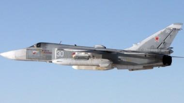 Undatiertes Nato-Handout einer russischen SU-24. Kampfjets dieses Typs waren auch an den Manövern in den vergangenen Tagen beteiligt