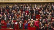 Applaus für die Anerkennung: Französische Abgeordnete nach der Abstimmung über die Palästina-Resolution
