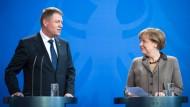 Merkel sichert Rumänien Beistand zu