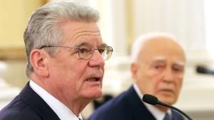 Gauck weist Forderungen nach Reparationen zurück