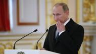 Besuch unerwünscht: der russische Präsident Wladimir Putin Ende Mai in Moskau